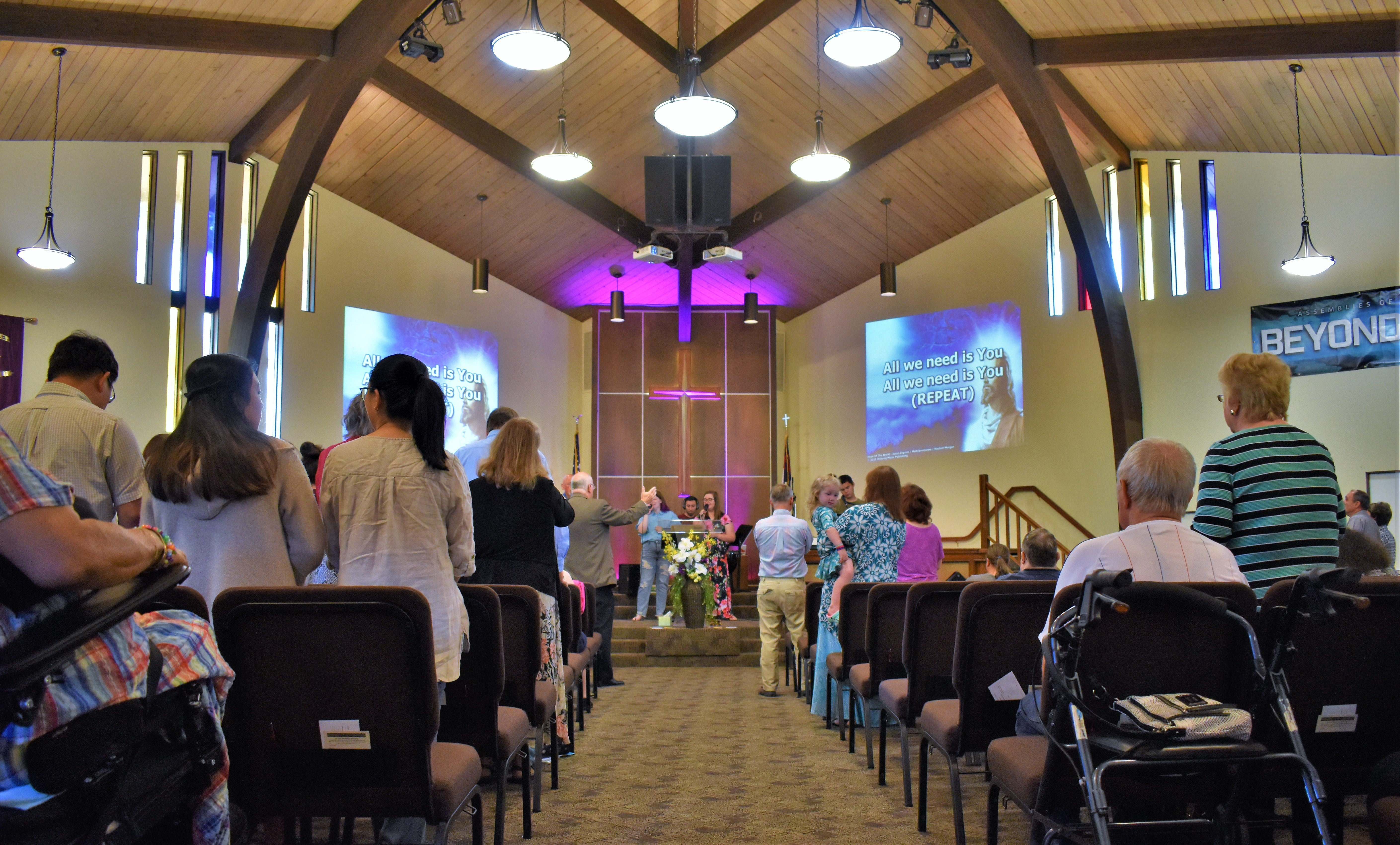 sanctuary during Sunday morning worship